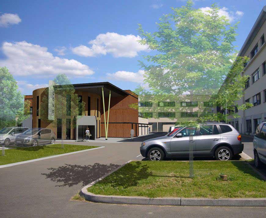 construction immeuble centre ophtalmologique du val d oise. Black Bedroom Furniture Sets. Home Design Ideas