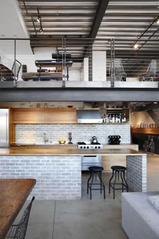 le loft est typiquement l'exemple d'une maison à ossature métallique